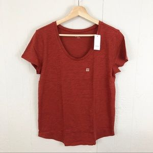 LOFT Outlet NWT Burnt Orange Rust Scoop Neck Tee